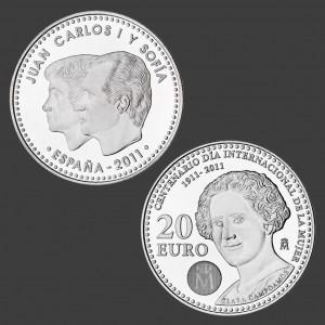 Moneda con la imagen de Clara Campoamor conmemora el Centenario del Día Internacional de la Mujer