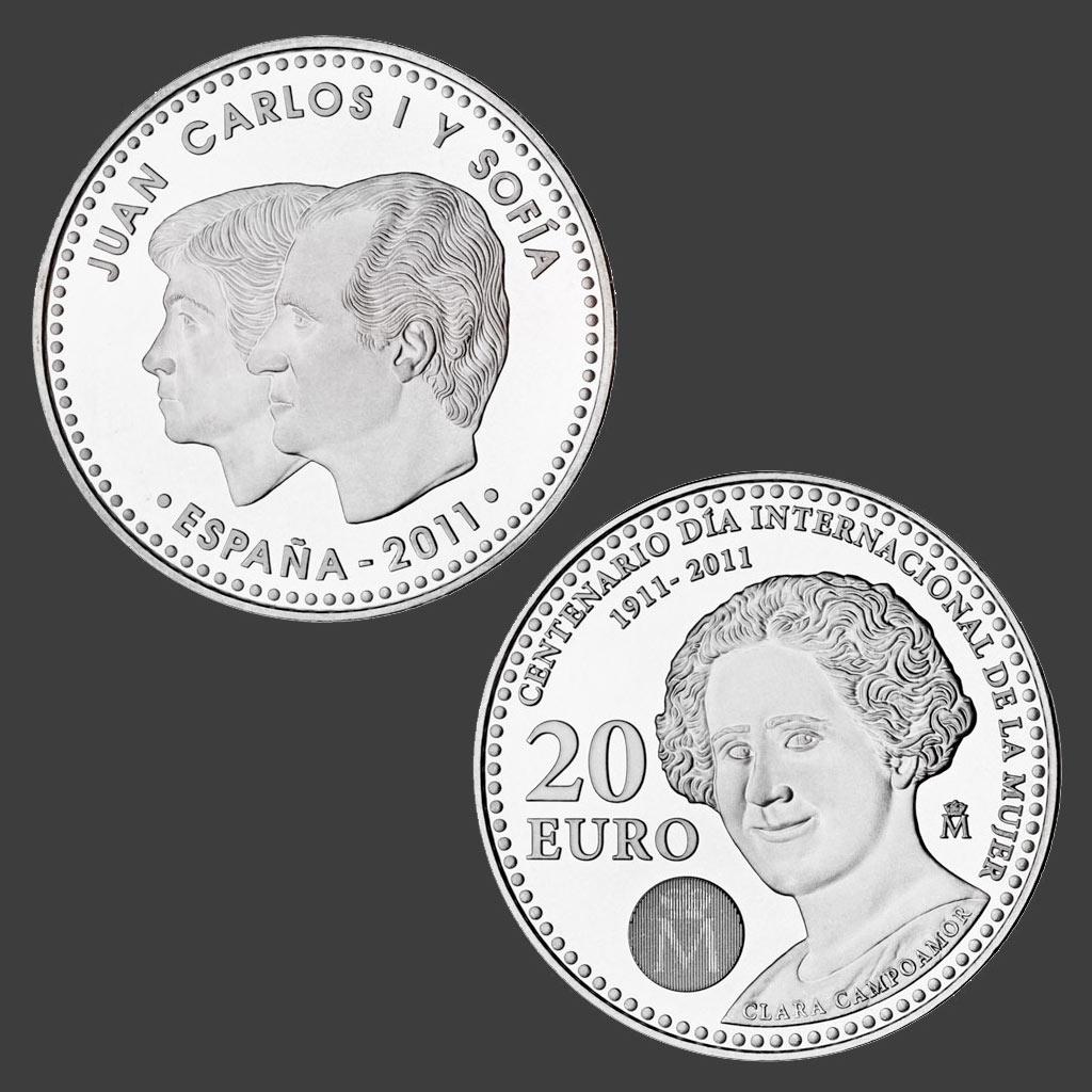 Clara Campoamor en la moneda de 20 euros